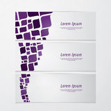 Three fresh banners. Modern design. Abstract retro mosaic - colo Royalty Free Stock Photos