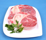 Three fresh beef shanks Stock Photography