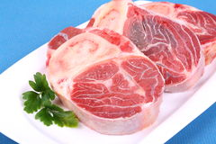 Three fresh beef shanks Royalty Free Stock Images