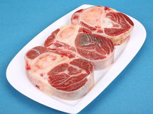 Three fresh beef shanks Stock Photo