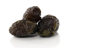 Three fresh best quality dates Royalty Free Stock Image