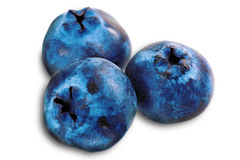 Three fresh blueberry Royalty Free Stock Images