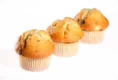 Three fresh blueberry muffins Royalty Free Stock Photo