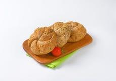 Three fresh buns Stock Images