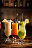 Three fresh cocktails Stock Images