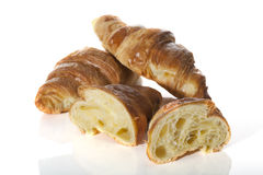 Three fresh croissants Royalty Free Stock Photography