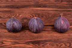 Three fresh figs Royalty Free Stock Photography