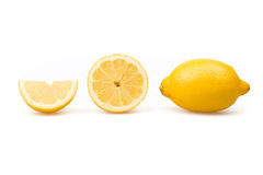 Three fresh fruity lemons Royalty Free Stock Photography