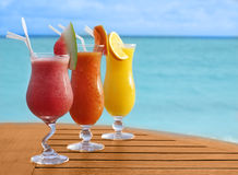 Three fresh juices Royalty Free Stock Photos