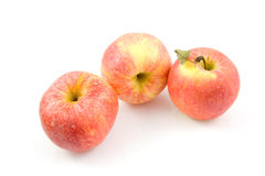 Three fresh juicy apples Stock Photography