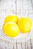 Three fresh lemons Stock Image
