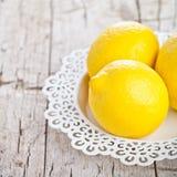 Three fresh lemons Royalty Free Stock Photos