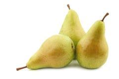 Three fresh migo pears Royalty Free Stock Photos