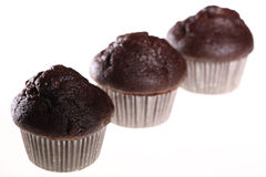 Three fresh muffins Stock Photos