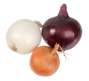 Only three fresh onion Royalty Free Stock Photos
