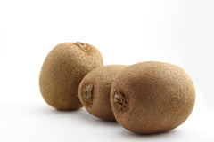 Three fresh organic New Zealand kiwifruit Royalty Free Stock Photo