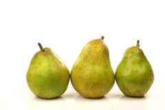 Three fresh pears Stock Images