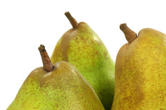 Three fresh pears Royalty Free Stock Photos