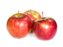 Three fresh red apple Stock Photography