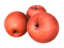 Three Fresh Red apples. Foods and Dishes Series. Royalty Free Stock Images