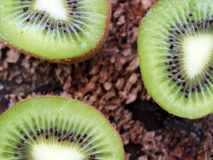 Three fresh slices of delicious kiwi Royalty Free Stock Photography