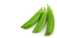 Three fresh sugar snaps Royalty Free Stock Images