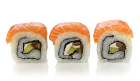 Three fresh sushi Royalty Free Stock Images