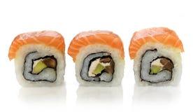 Three fresh sushi Royalty Free Stock Images