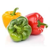Three fresh sweet pepper Royalty Free Stock Photos