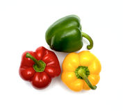 Three fresh sweet pepper Royalty Free Stock Image