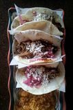 Three fresh tacos Royalty Free Stock Images