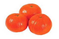 Three fresh tangerine Royalty Free Stock Image