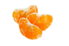 Three fresh tangerine slices Royalty Free Stock Photos
