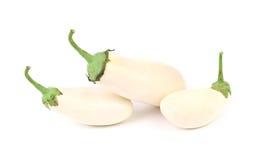 Three fresh white eggplant Royalty Free Stock Image