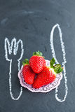 Fresh whole strawberries Stock Images