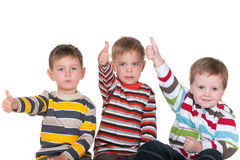 Three friend with thumbs up Stock Photos