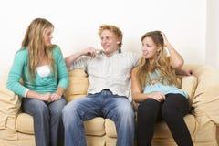 Three friends 1 royalty free stock image