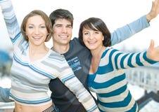 Three friends 2 Stock Image