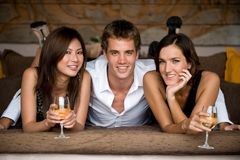Three Friends Royalty Free Stock Photography