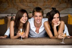 Three Friends Royalty Free Stock Photo