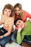 Three of friends stock photography