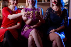 Three friends at bar Stock Photography