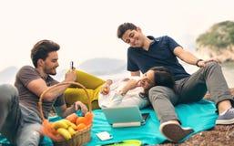 Three friends having fun Stock Photo
