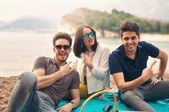 Three friends having fun Stock Photos