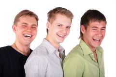 Three friends laughs Stock Photography