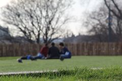 Three Friends In the Park royalty free stock image