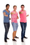 Three friends posing Royalty Free Stock Photography