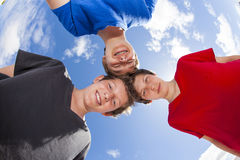 Three friends stick together Royalty Free Stock Photography