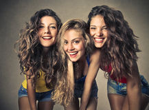 Three friends together Stock Photography