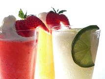 Three Frozen Margaritas Royalty Free Stock Photo